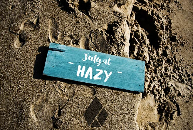 July at Hazy